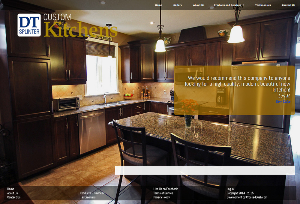 DT Kitchens Site Redesign