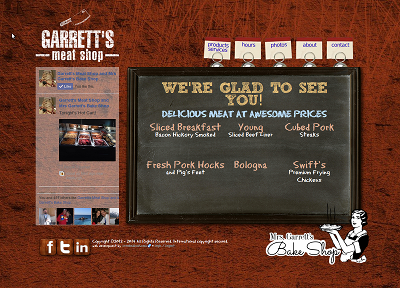 New Web Site for Garrett's Meat Shop and Mrs. Garrett's Bake Shop