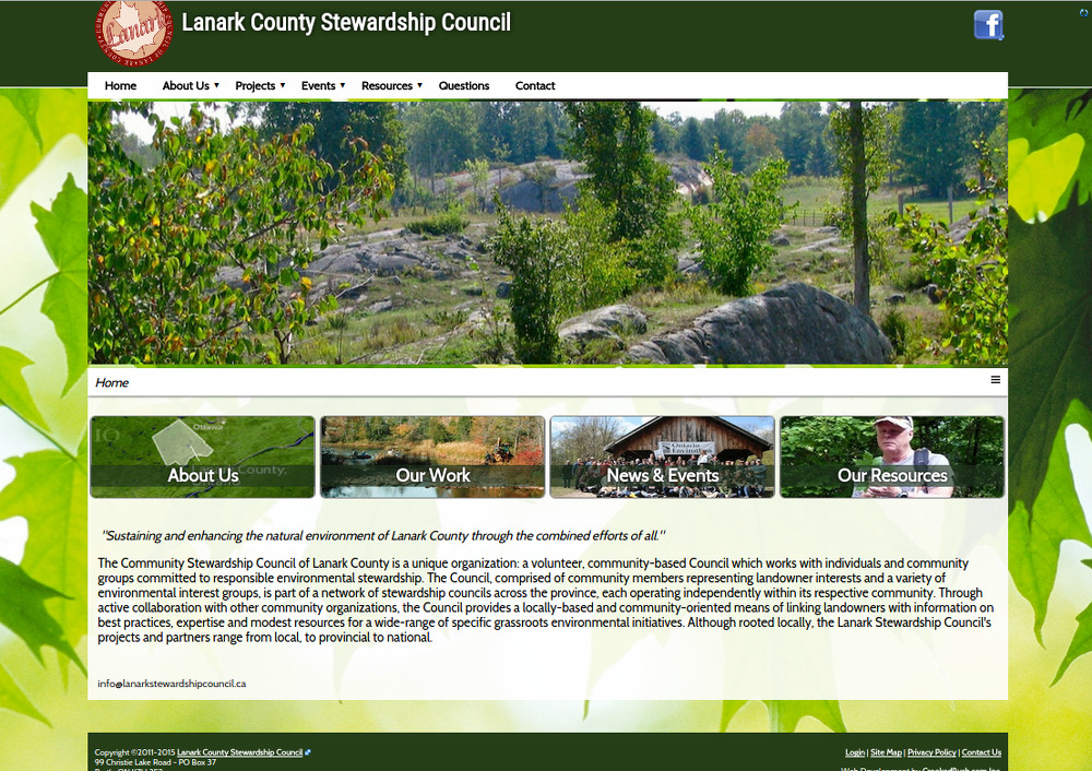 Lanark County Stewardship Council Site Redesign
